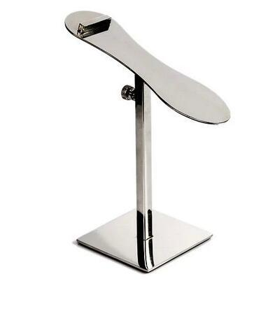 Mirror surface Stainless steel Shoes Store metal display showing stand shoe Bracket adjustable height shoes holder rack