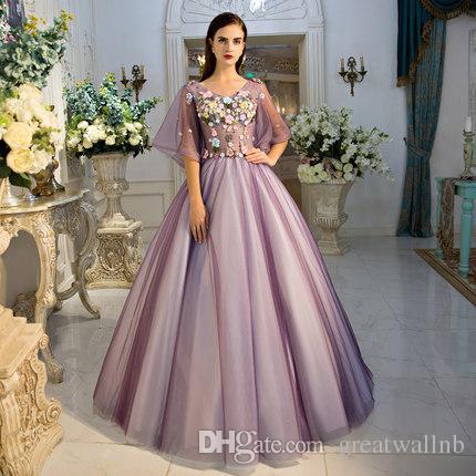 66201786d75 Acheter Manches Courtes Papillon Violet Ruban Broderie Robe Médiévale Sissi Princesse  Médiévale Renaissance Robe Victorienne Belle Balle De  221.32 Du ...