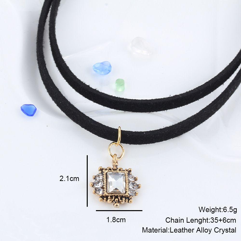 Coréia fita de veludo curto colar punk Lolita lua pingente de cristal colar curto parágrafo cadeia clavícula Ms.