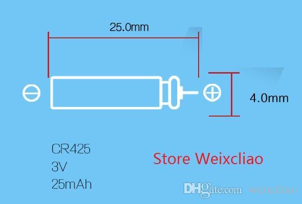 1 CR425 3V PIN 유형 리튬 이온 배터리 CR 425 3 볼트 리튬 이온 배터리 미끼 낚시 빛나는 파이프 카드 무료 배송