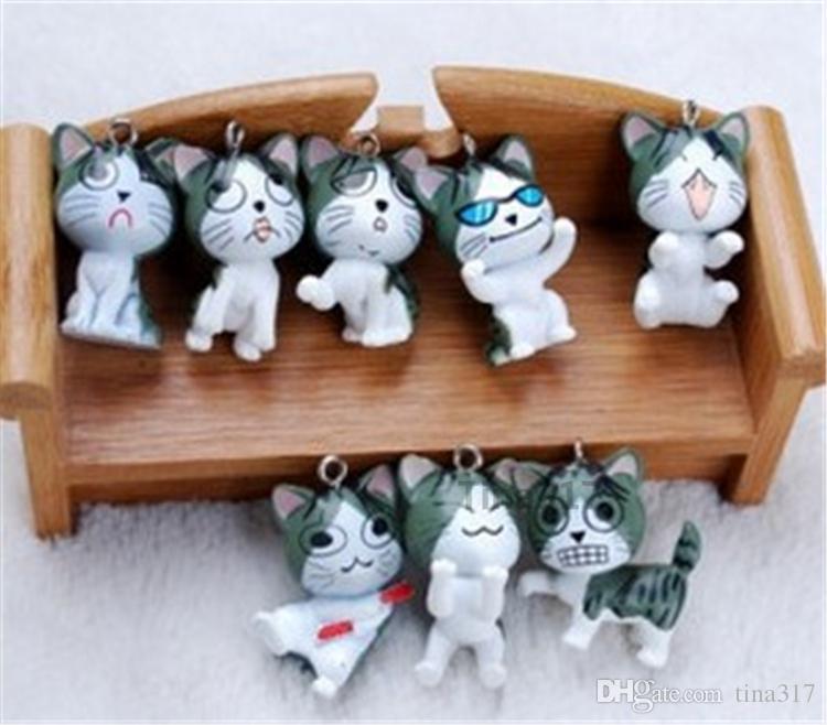 niedliche japanische maneki neko Käse Katze mobile Kette Glück Katze Handy Charme Behänge Zubehör für iPhone 4 5s Schlüsselanhänger accessories2138