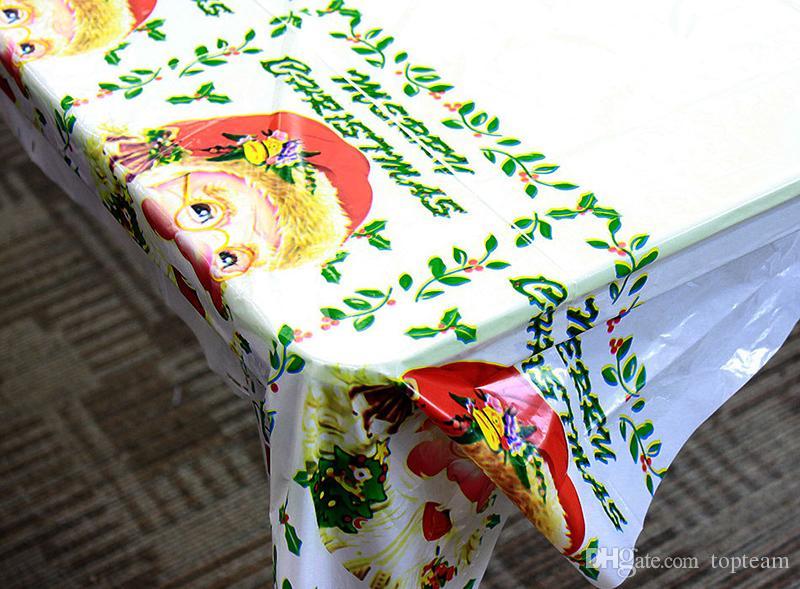 Grande Taille Chirstmas Nappe Tissu Unique De Noël Nappe À Manger Cuisine Outil De Table Couverture De Noël Dîner De Fête Décorations Ornement