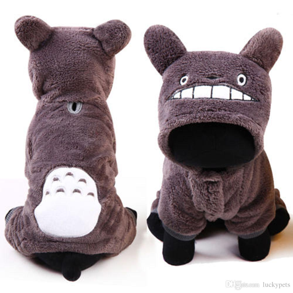 Halloween Christmas Cosplay Cartoon Totoro Fun Costume Cute Anime Onesie Pet Dog Puppy Winter Clothes Size XXS-L