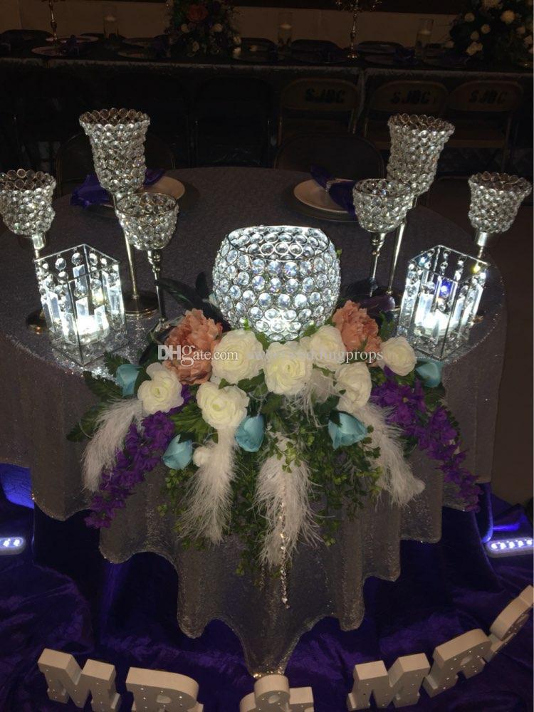 all Large Crystal Flower Vase/tall cylinder acrylic crystal vase