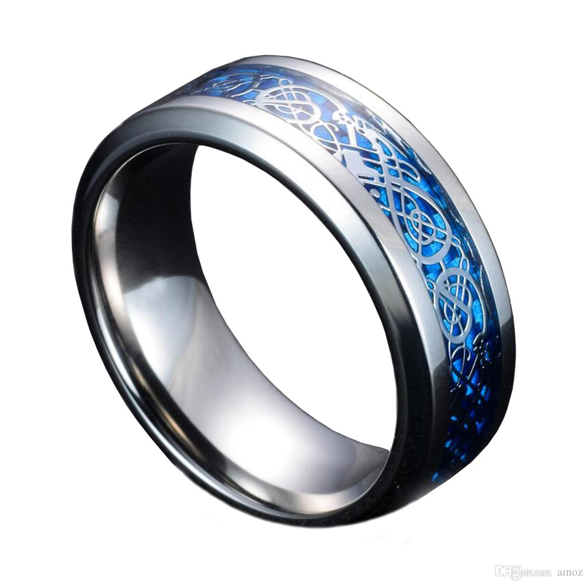 fit mens black rings comfort wedding carbon and band cobalt fiber chrome
