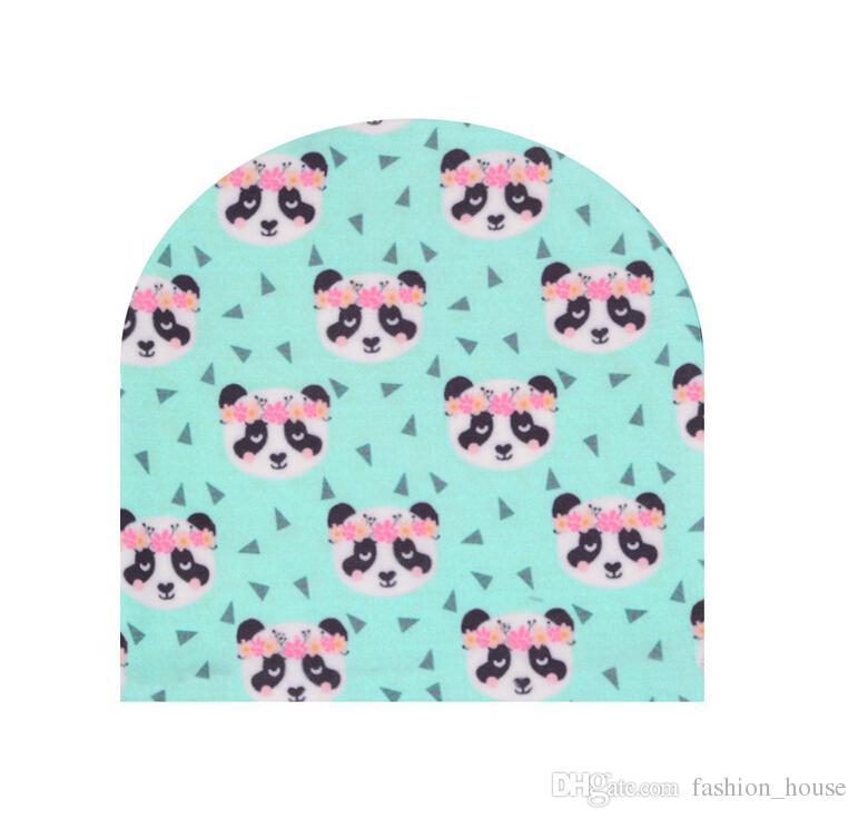 INS Çocuklar örme arıtılmış pamuk şapkalar çocuk moda karikatür caps pikachu ananas panda Çiçekler baskılı Bebek L001 caps