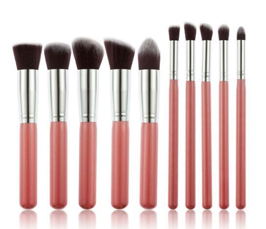 Profissional Preto / Ouro Pincéis de Maquiagem Set Beleza Fundação Kabuki Escova Cosméticos Make up Brushes Kit Ferramentas