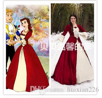 Beauty And The Beast 2 Enchanted Belle Princess Cosplay Red