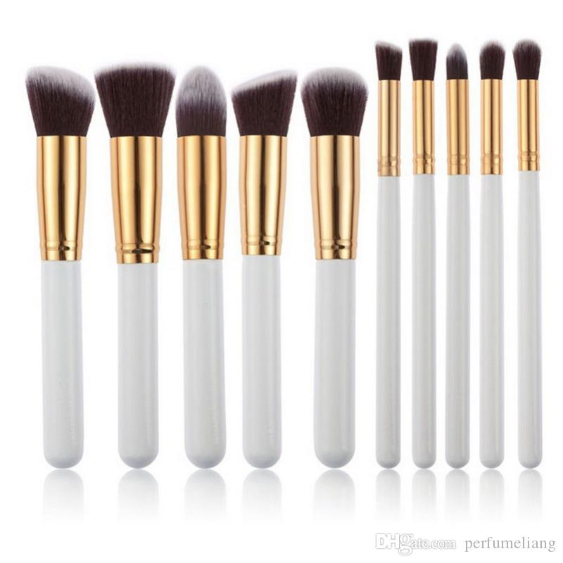Hohe Qualität Maquiagem Makeup Pinsel 10 teile / satz Beauty Cosmetics Foundation Mischen Blush Make up Pinsel Werkzeug Kit Set WB0236