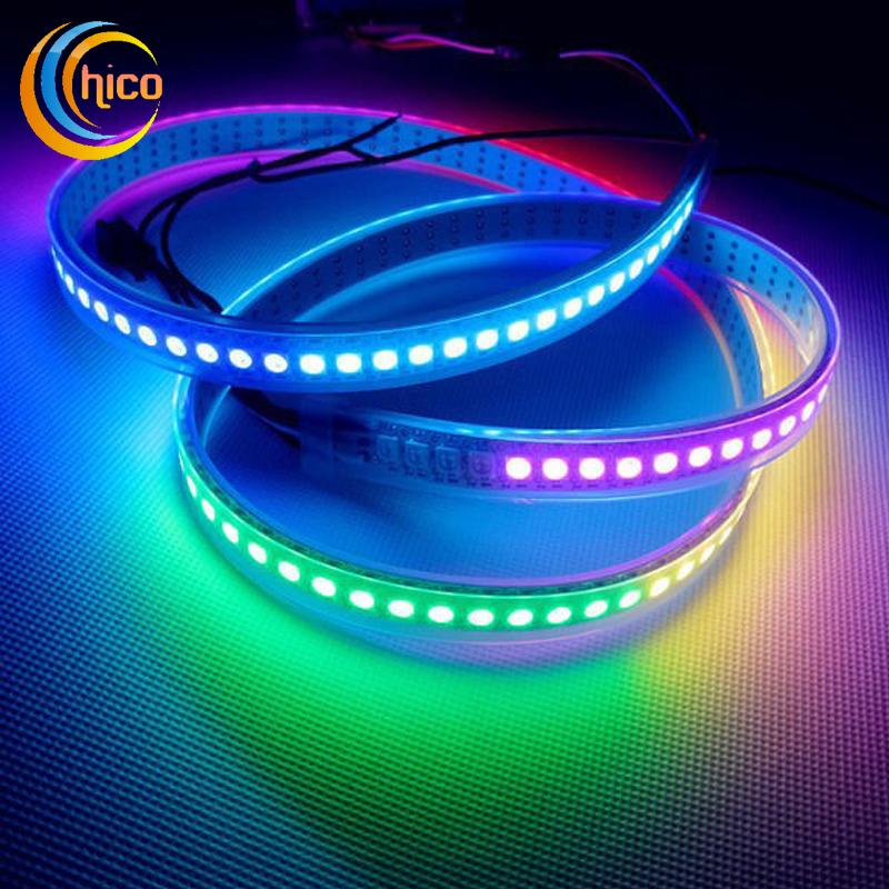 Ws2812b 144 led smd 5050 dc5v led strip lights waterproof ip65 ws2812b 144 led smd 5050 dc5v led strip lights waterproof ip65 addressable programmable chageable lamp iluminacion ruban luz led decoration ws2812b led aloadofball
