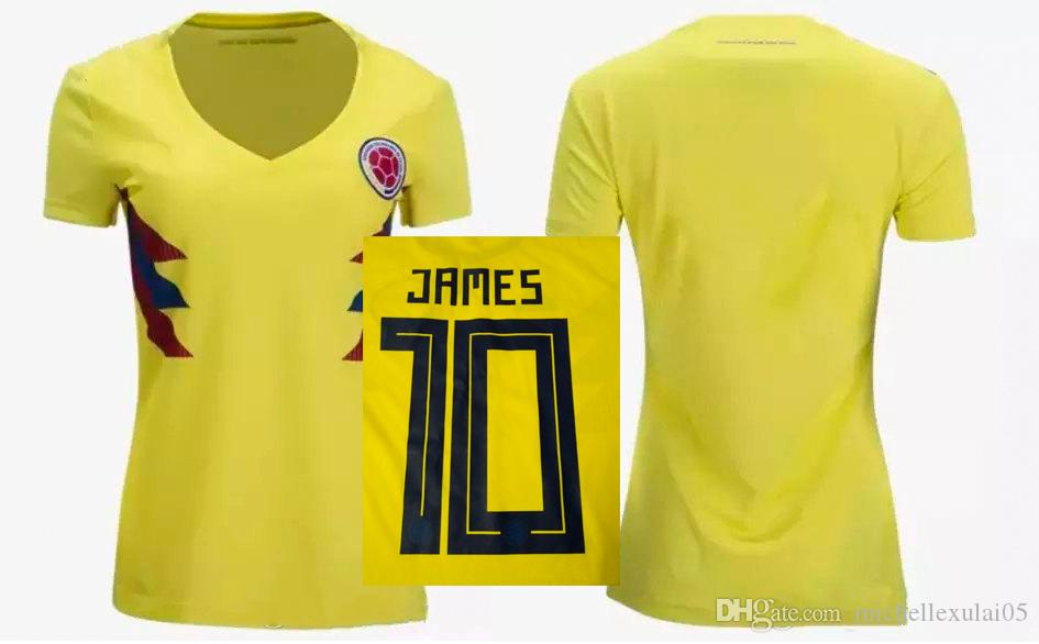 Camiseta De Fútbol De Colombia Para Mujeres Camiseta De Fútbol De  California Para Camisetas De Fútbol De La Copa Mundial 2018 De Fútbol Para  Mujeres Por ... 1c8eba1d60d96