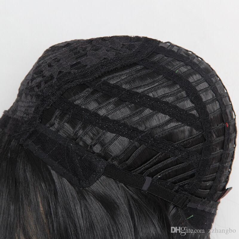 wigs African American Short Hairstyles Wigs Wavy Highlighted ...