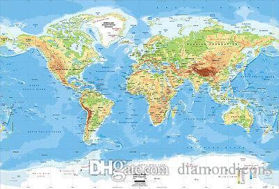2018 wall sticker the world map poster printing 24x35 wallpaper see larger image gumiabroncs Gallery