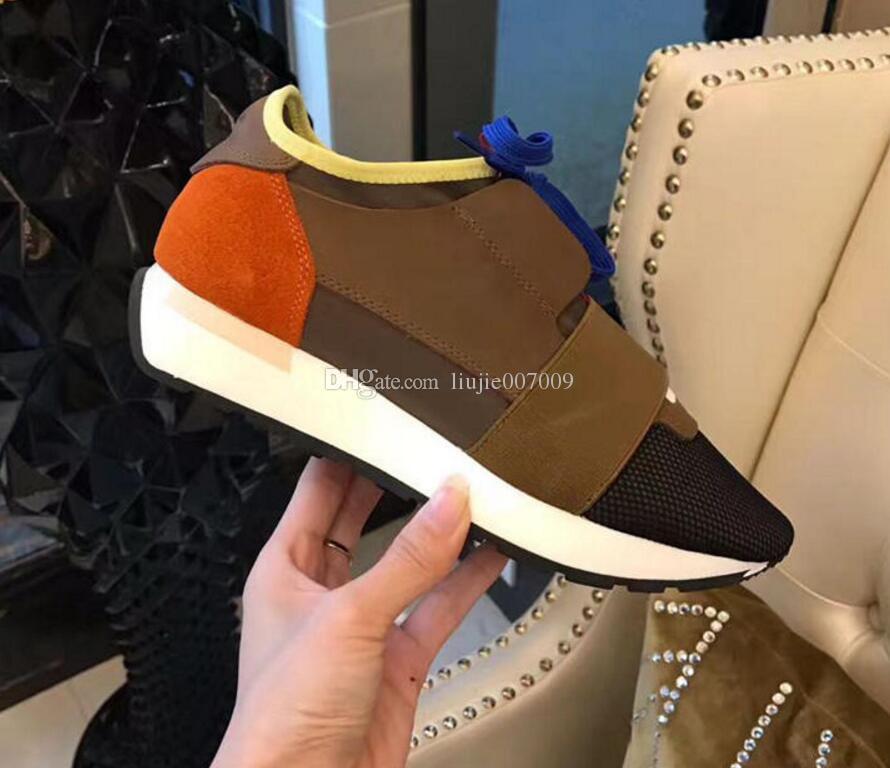 Marque Original Box Chaussure Décontractée Homme Femme Course Course Runner Chaussures Respirant En Maille Mixte Couleurs Orange Bleu Blanc Semelle Sneaker Taille 46