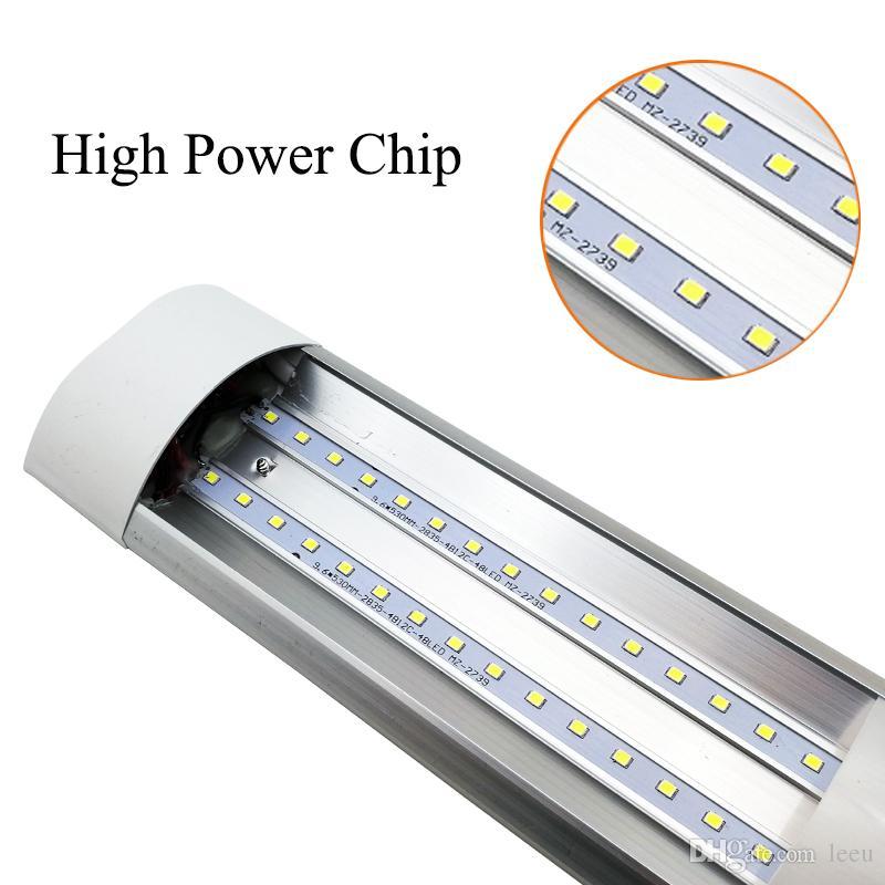 표면 탑재 LED Batten 더블 행 튜브 조명 2ft 4ft T8 고정물 Purificati LED TRI-Proof Light Tube 18W 36W AC 110-240V
