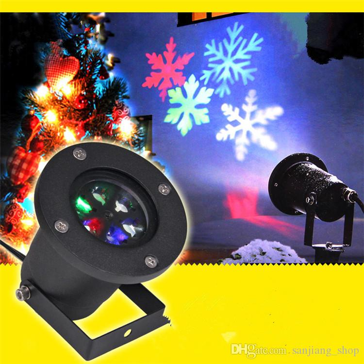 Christmas LED Projector Automatically garden LED light Moving Snowflake Spotlight Lamp Christmas Festival party Decorations hot style