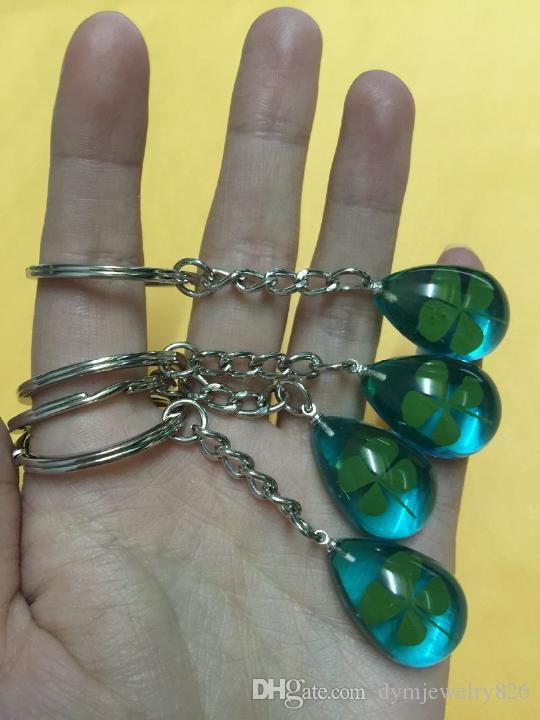 Frete Grátis 14 chaveiro jóias real shamrock azul chaveiro