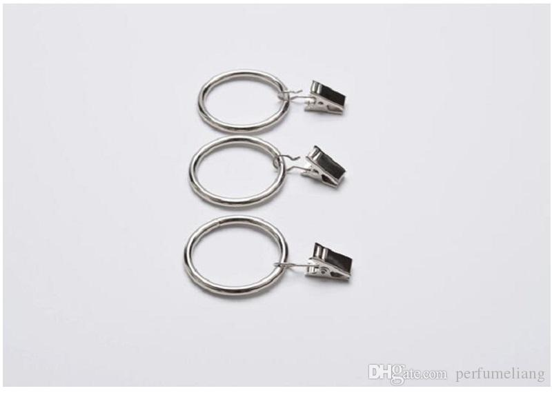 High Quality Black Mini Stainless Steel Window Curtain Hook Metal Rings Clips With Eyelets ZA0775
