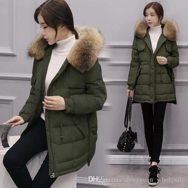 2018 2017 Korean Style Winter Jacket Women Big Size Slim Jacket ...
