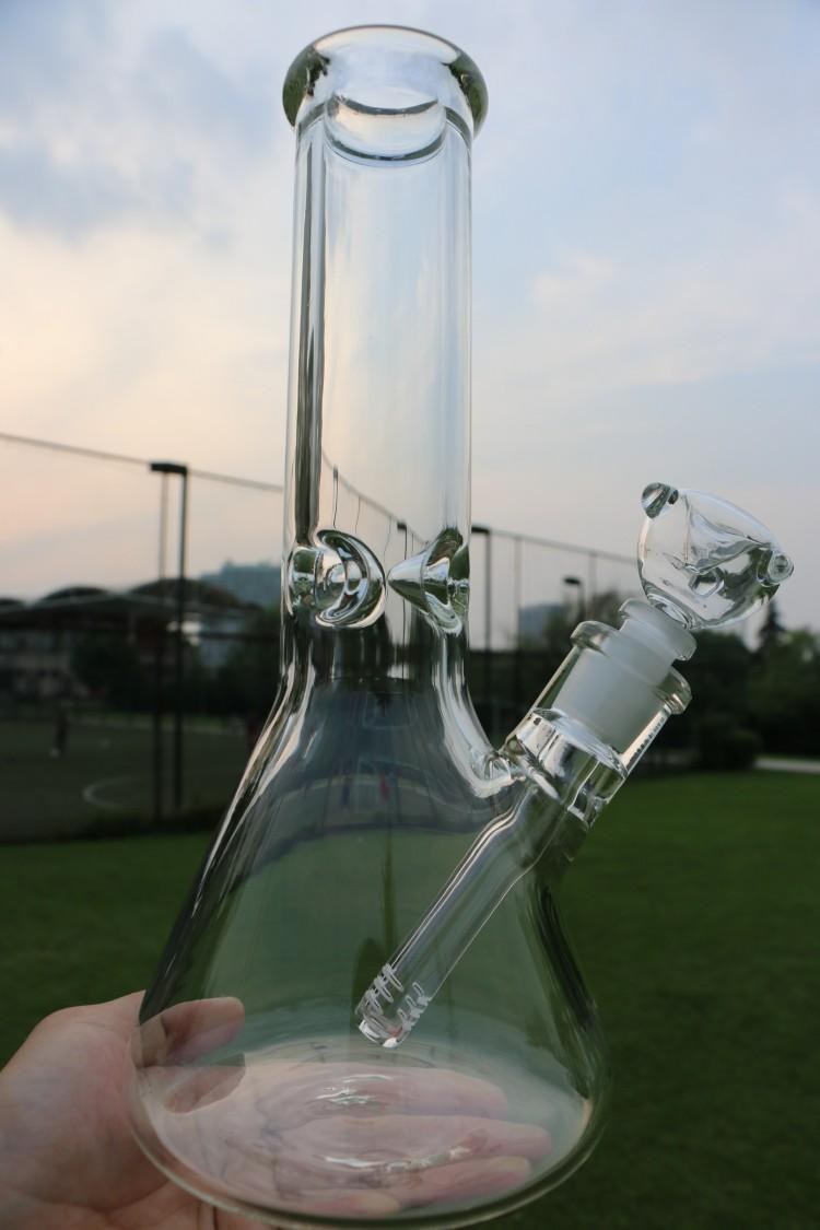 2017 9mm Beaker Bong Thick Glass Oil Rigs 12 Inches With