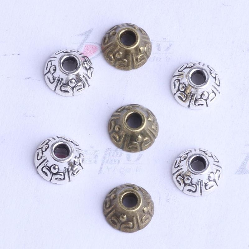 totem torus Spacer perle charme / 3.7 * 6.9mm argent / bronze antique zinc alliage de zinc pour bricolage pendentif bijoux fabrication accessoires 2529