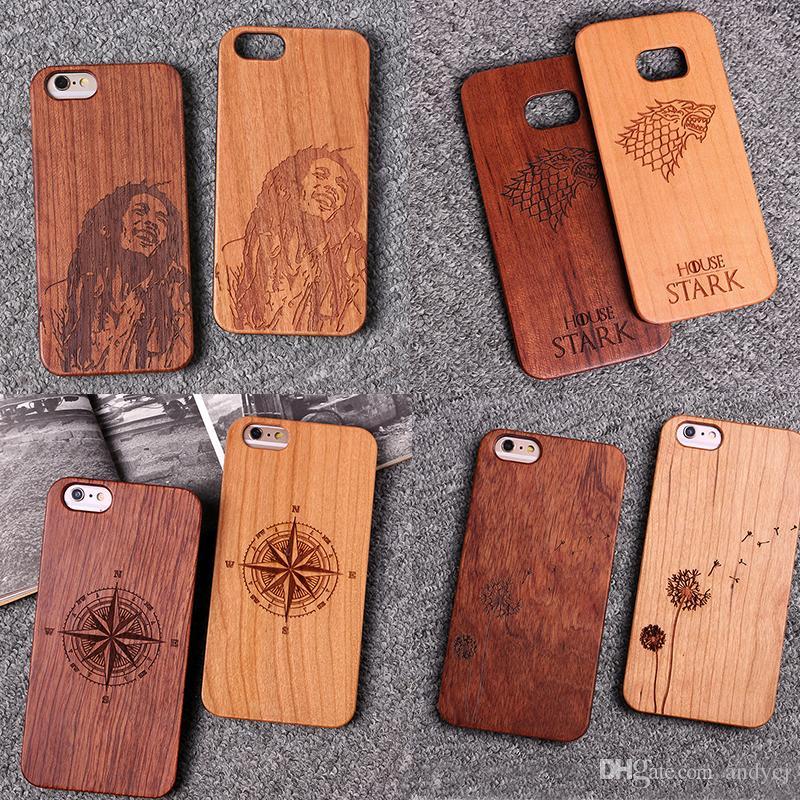For iphone 8 plus 8 6S 6Plus 7 plus Dandelion cartoon compass Floral Edge  wooden case for SAMSUNG Galaxy S6 S7 S8 Plus
