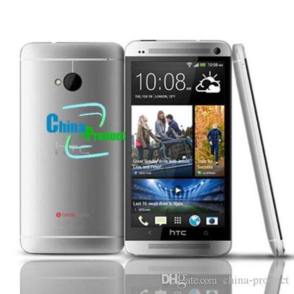 100% Original Unlocked HTC ONE M7 Android Smartphone 32GB ROM 4.7inches GPS 3G Dual camera 8MP WIFI Quad Core WIFI Refurbished phone