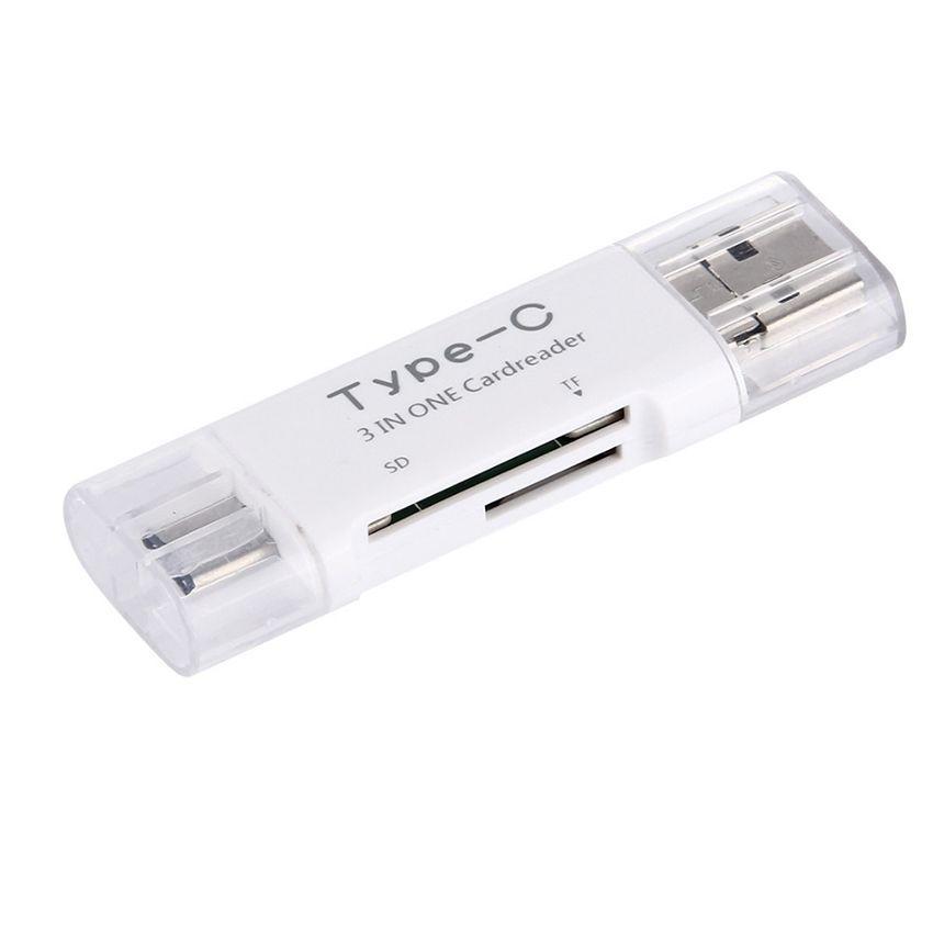 جديد 3 في 1 USB 3.1 نوع C مايكرو USB OTG قارئ بطاقة USB مايكرو SDHC SD TF قارئ بطاقة C- نوع ل Samsung Note7 iPhone7 Macbook Notebook