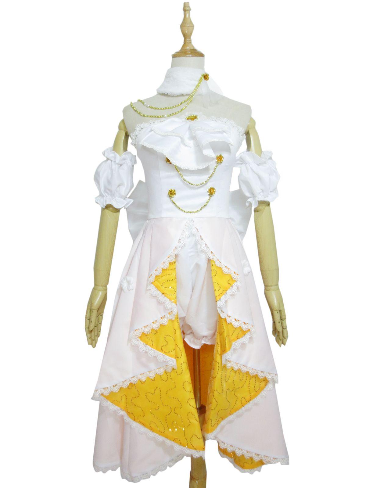 Aşk Canlı Cosplay Hanayo Koizumi Düğün Lolita Elbise Kostüm