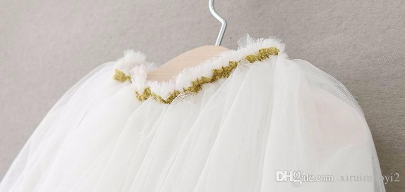 EMS DHL 2016 Summer New Girls Princess Skirts Lace Flower TUTU Skirts Summer Style tutu Skirt