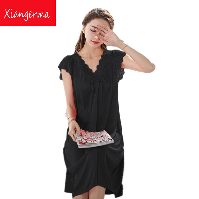 ef8cc76d03 japanese long nylon nightgowns Lace Sling Skirt Temptation Lingerie sexy  costumes sexy lingerie pyjamas women lace free shipping
