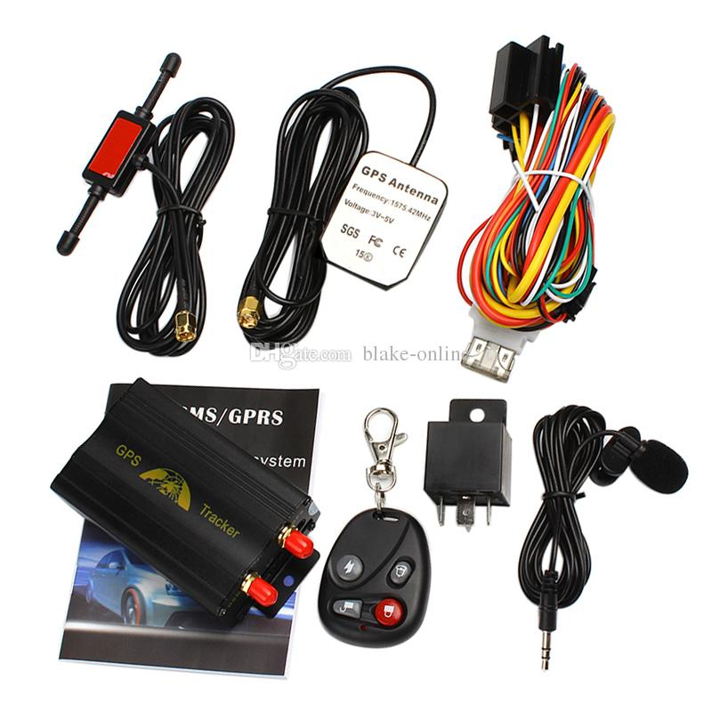GPS103B TK103B Araç Araba GPS Tracker Quad Band Gerçek Zamanlı Konumlandırma GPS / GSM / GPRS Devre Uzaktan Kumanda Ile Çevrimiçi Alarm Sistemi