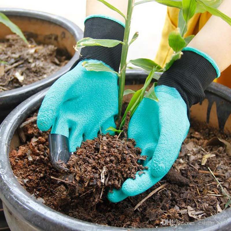Ferramentas de Jardim Luvas Para Cavar o solo de Plantio Unisex 4 Garras Fácil Caminho Para Jardim Escavação Luvas de Plantio À Prova D 'Água Resistente Para Espinhos