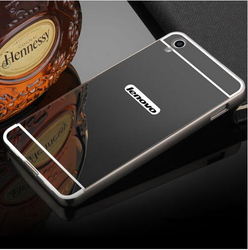 on sale 7839a f4538 For Lenovo S850 Mirror Back Cover Case Aluminum Metal Frame Bumper For  Lenovo S850 Case Bumper Hybrid Border Cover Coque Fundas