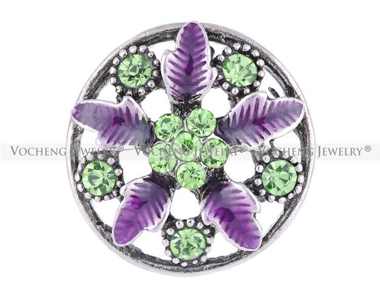 VOCHENG NOOSA 18mm évider les bijoux de charme interchangeables fleur Vn-1130