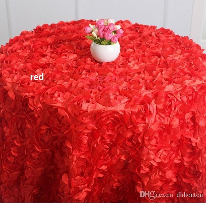 Tovaglia Tovaglia rotonda banchetto Decorazione festa nuziale Tavoli Tessuto satinato Tovaglia Tovaglia matrimonio Tessili la casa WT027