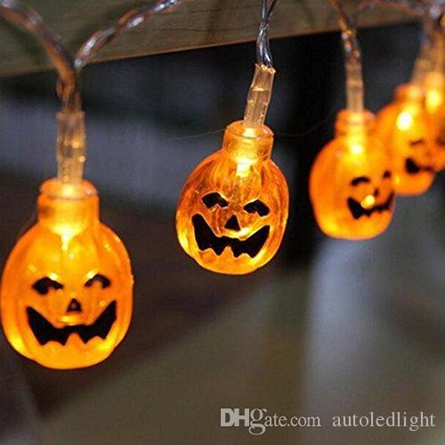 halloween 3d jack o lantern pumpkin string lights 20 led 2m holiday decoration lights for indooroutdoorfestivalparty decor string lights outdoor string