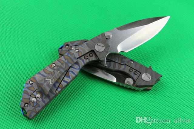 Limited Edition High End Flipper folding blade knife D2 60HRC Wiredrawing finish blade knife survival Tactical knives