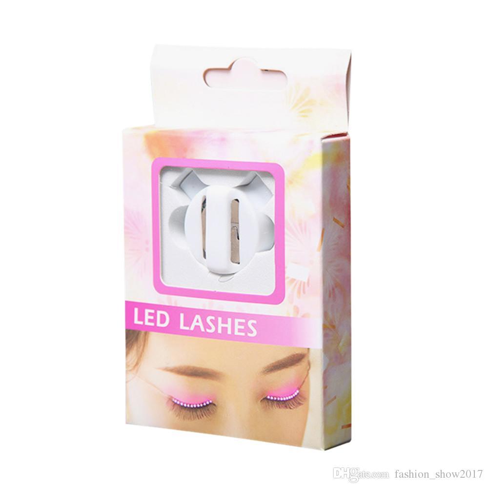 Nouveau mode LED cils paupière faux cils électroniques paupière Cool maquillage beauté cils pour Pub Noël Halloween Discothèque