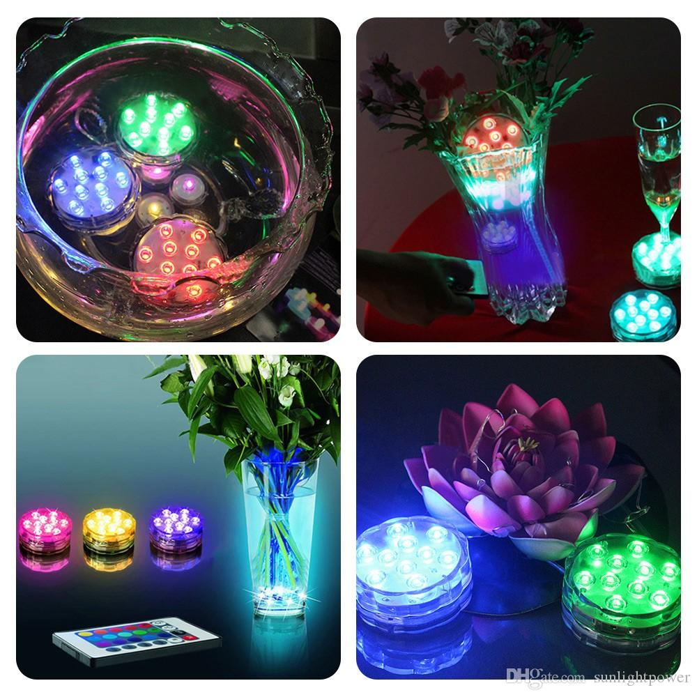NOUVELLE Télécommande Colorée Aquarium LED Éclairage De Plongée 10 LED Imperméable À L'eau Sous-marine Bougie Électronique Éclairage Fish Tank Lampe