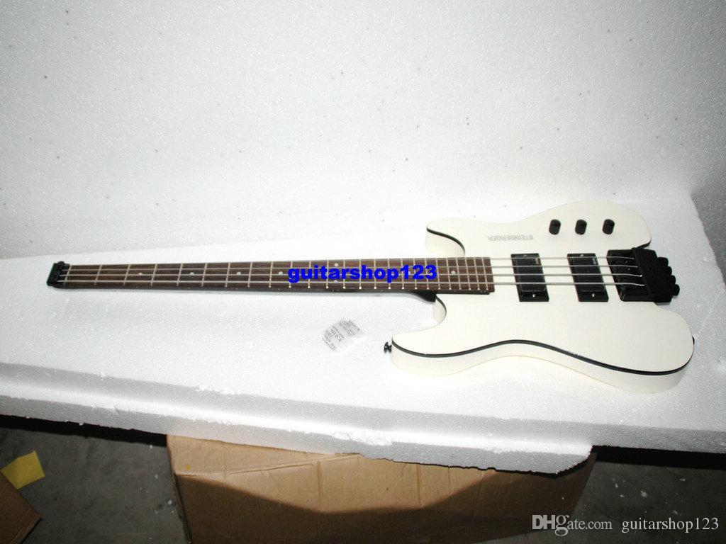 white 4 strings no head electric bass headless wholesale guitars bass guitar for dummies bass. Black Bedroom Furniture Sets. Home Design Ideas