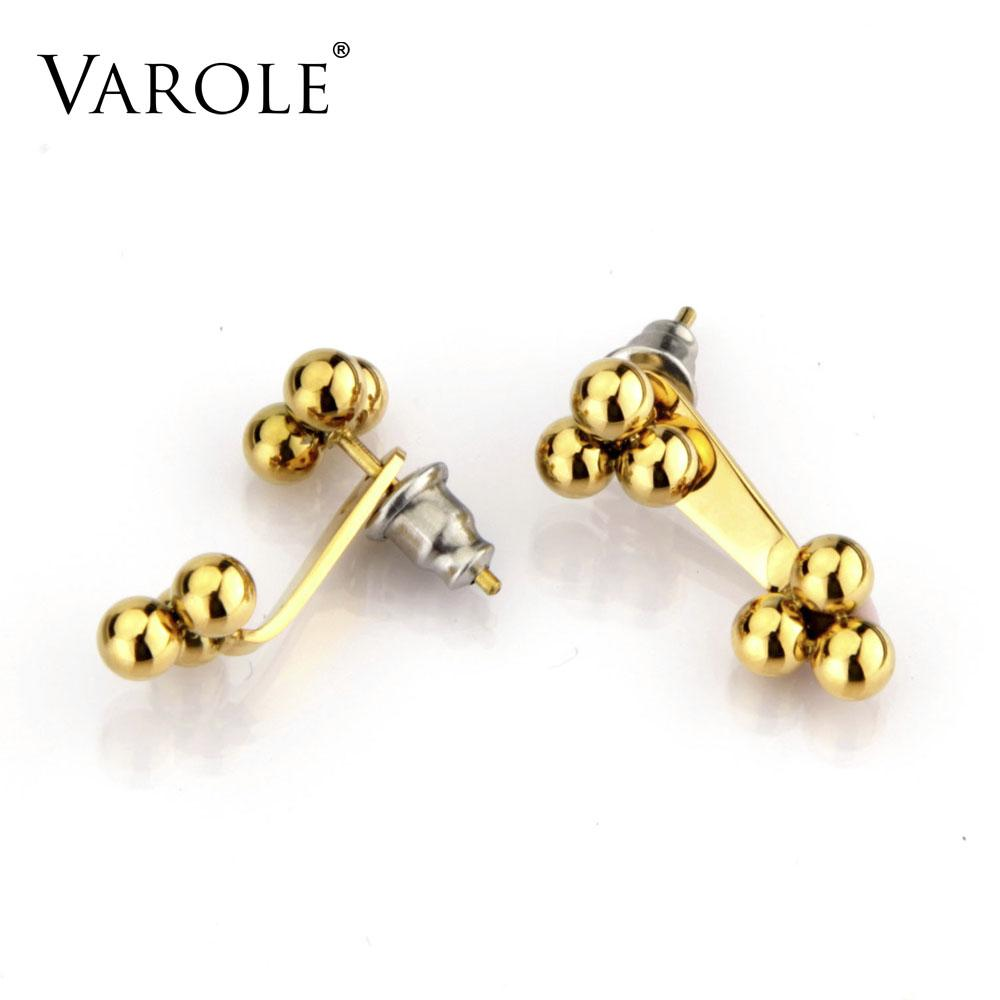 gold earrings shaped excellent hot fashion fine new rose color product flower for rhinestones women stud heart jewelry
