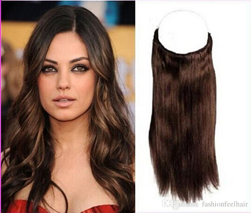 Halo Hair 8inch 34inch Loop Weft Flip In Hair Extension Cabelo Hair