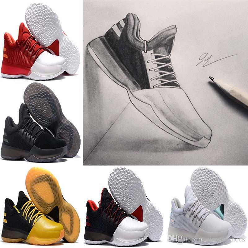 0ef7566cd39 2018 James Harden Vol.1 Black History Month White Orange Gold Men S  Basketball Shoes Harden Vol.1 Low BHM Boys Grade School Sneakers Shoes  Sports Sports ...