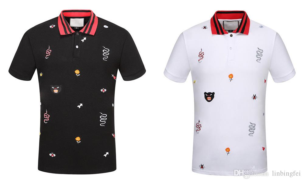 43a51a4f0d0 2018 Brand New Luxury Designer Novelty Fashion Casual Men Polo T ...