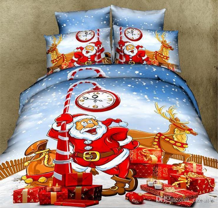 Großhandel Top Weihnachtsgeschenk 4 Stück Baumwolle Santa Claus