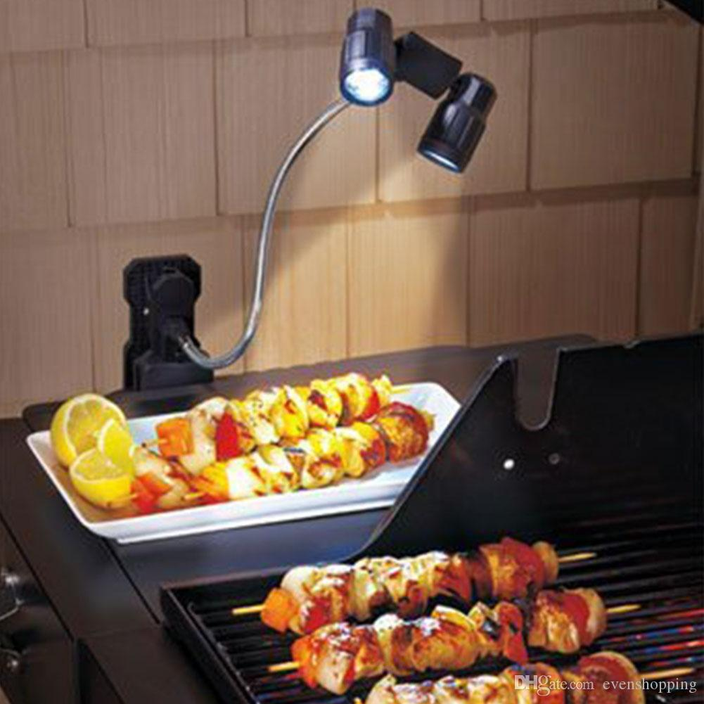2017 clip on double bbq grill light led lights multifunction barbecue black abs material camping. Black Bedroom Furniture Sets. Home Design Ideas