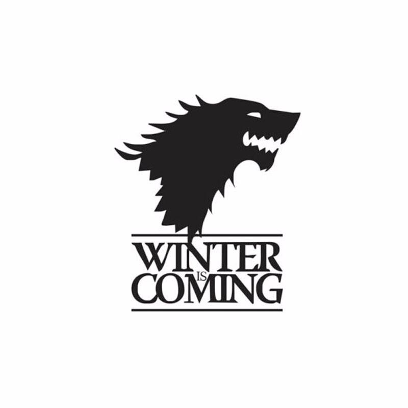 2019 winter is coming wolf game of thrones car sticker