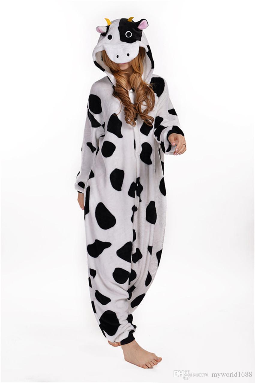 Hot Selling Cheap Dairy Cattle Anime Pyjamas Cosplay Costume Adult Dress Sleepwear Halloween S M L XL