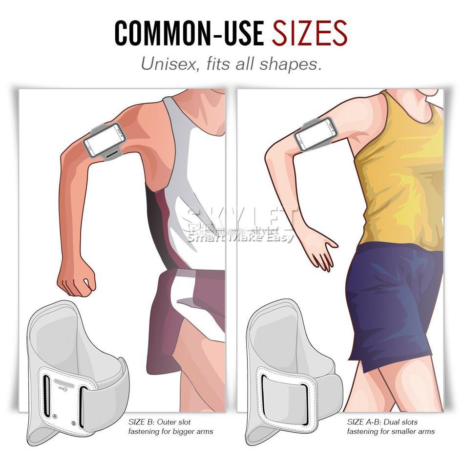 iPhone XS MAX impermeabile sport in esecuzione bracciale cassa allenamento bracciale titolare sacchetto del braccio del cellulare con sacchetto OPP